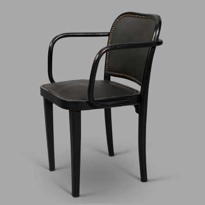 Series of 4 armchairs by Josef Hoffmann for Thonet, c. 1930