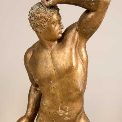 Sculpture, two wrestlers in the antique, c.1940-1950