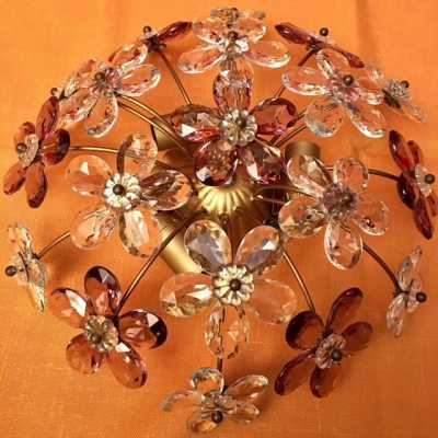 pair ceiling light golden iron