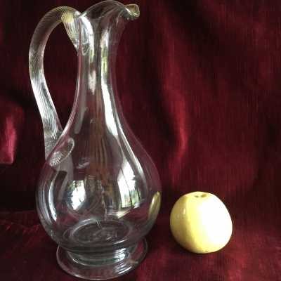 Tall and slender Norman pitcher jug, rather rare by its great size