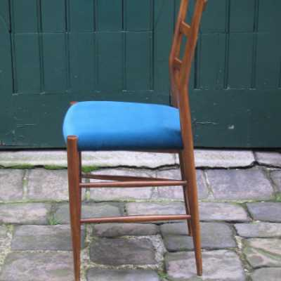 chair itlay-1960-velvet-oak
