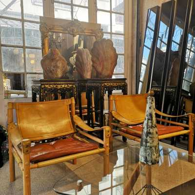 "Pair of ""Sirocco"" armchairs by Arne Norell"