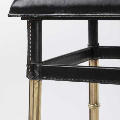 Adnet Pair of Bar Stools