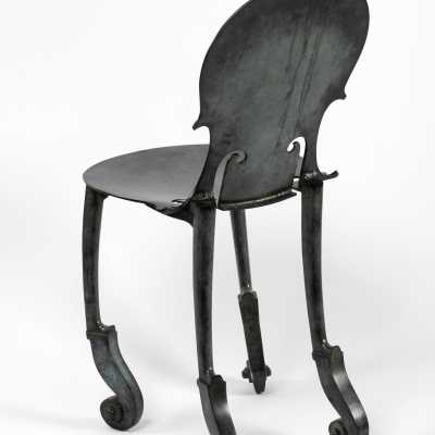 Cello chair Arman bronze Bocquel.