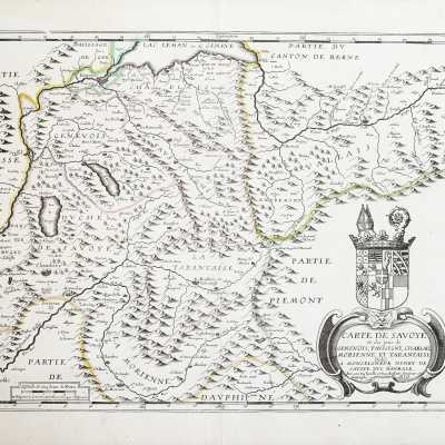 old geographical map of savoy