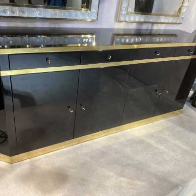 Sideboard I believe in black lacquered Mahé