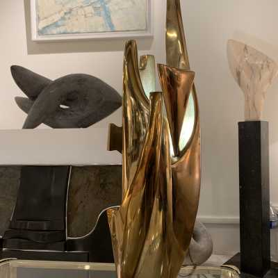 bronze lamp by Fred Brouard circa 1970