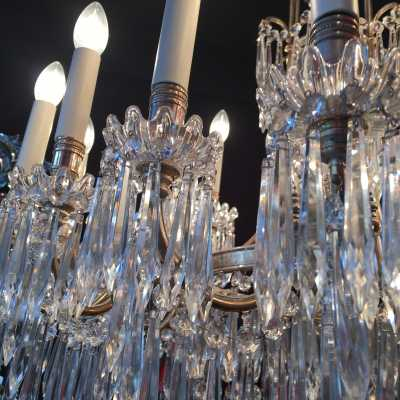 French Antique Baccarat Chandelier