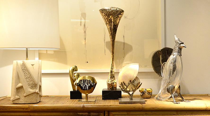 Set of gilt bronze sculptures from the 1970s