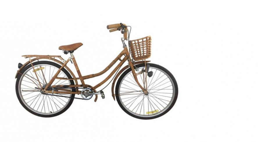 Vintage bamboo and rattan bike, 1970