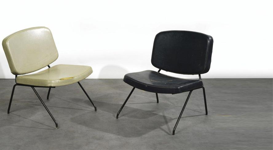 Pair of CM190 low chairs by Pierre Paulin